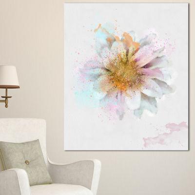 Designart Beautiful Flower With Yellow Stigma Floral Canvas Art Print 3 Panels
