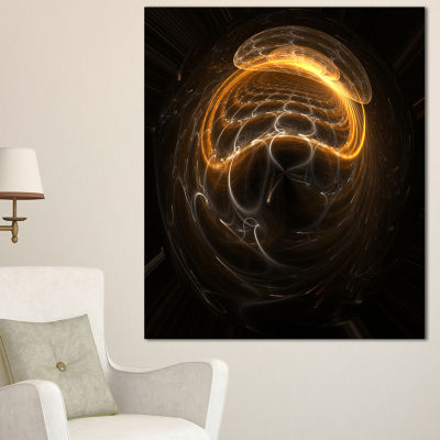 Designart Beautiful Fractal Sphere Pattern FlowerArtwork On Canvas
