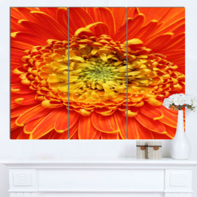 Design Art Beautiful Gerbera Flower In Brig FloralCanvas Art Print 3 Panels
