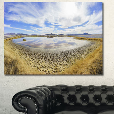 Designart Beautiful Grimshaw Lake Landscape CanvasArt Print 3 Panels