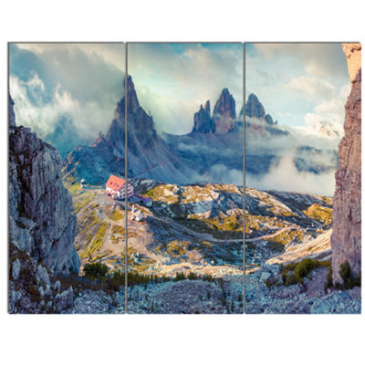 Designart Beautiful Lacatelli In National Park Large Landscape Canvas Art Print 3 Panels