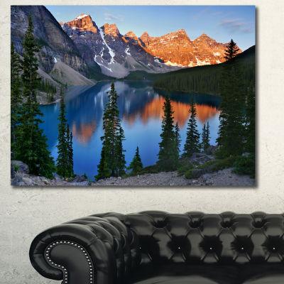 Designart Beautiful Moraine Lake Canada LandscapeCanvas Art Print