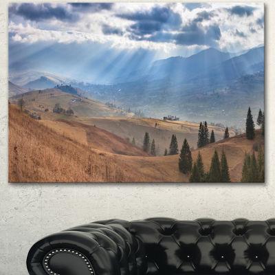 Designart Beautiful Mountain Village View Large Landscape Canvas Art