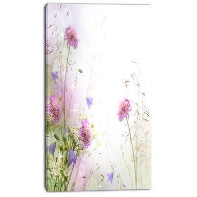 Designart Beautiful Pastel Floral Pattern Floral Canvas Art Print