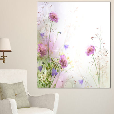 Designart Beautiful Pastel Floral Pattern FloralCanvas Art Print