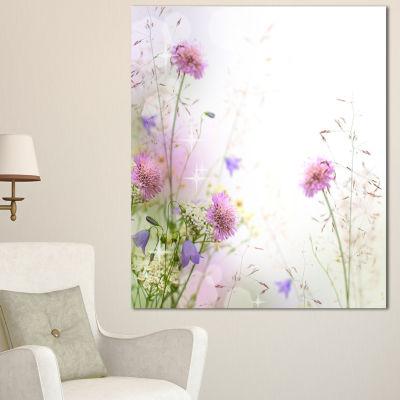 Designart Beautiful Pastel Floral Pattern FloralCanvas Art Print 3 Panels