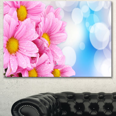 Design Art Beautiful Pink Flower Bouquet Large Floral Canvas Artwork