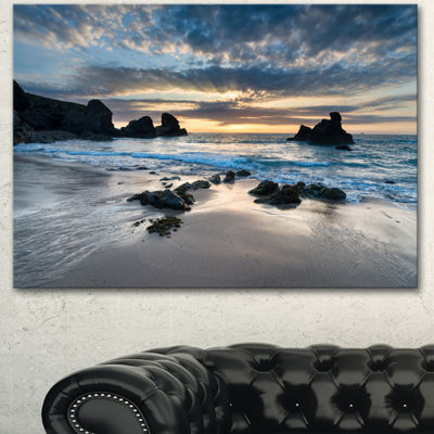 Designart Beautiful Porthcothan Bay Seashore Canvas Art Print