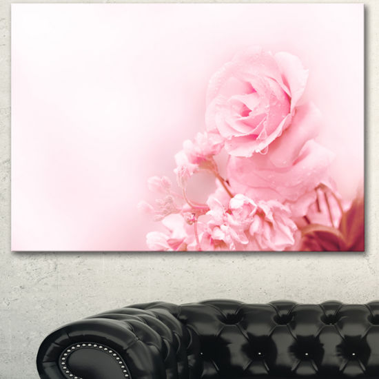 Designart Beautiful Rose In Magic Light PortraitCanvas Art Print