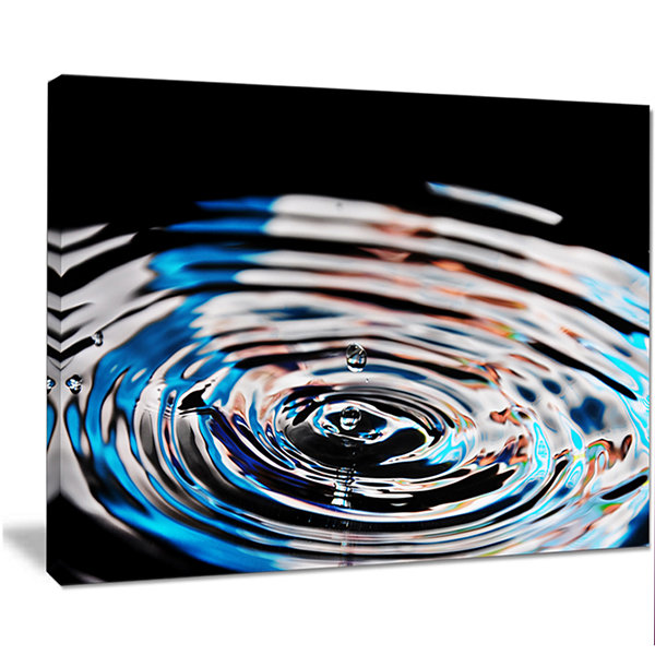 Design Art Beautiful Splash Of Purple Water LargeAbstract Canvas Wall Art