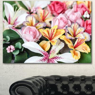 Designart Beautiful Sugar Flower Decoration FlowerArtwork On Canvas