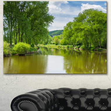 Design Art Beautiful Summer With Green Grass LargeLandscape Canvas Art