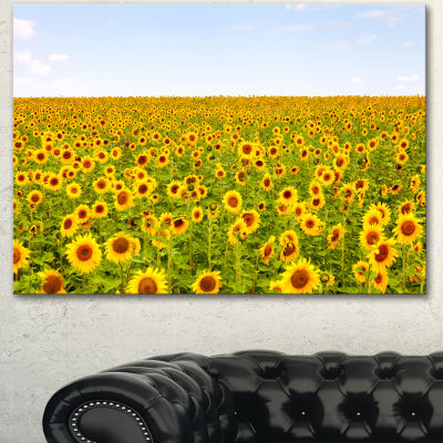 Design Art Beautiful Sunflowers Garden Floral Canvas Art Print 3 Panels