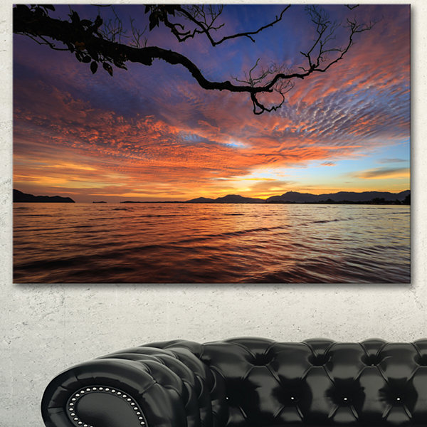Designart Beautiful Sunset Beach In Phuket Seashore Canvas Art Print