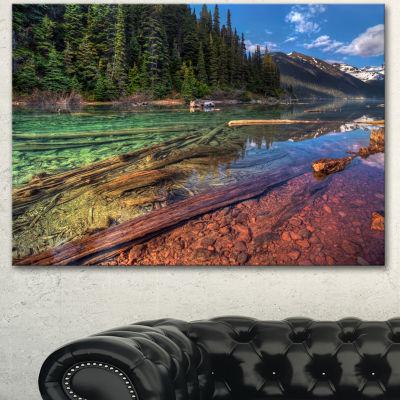 Designart Beautiful View Of Mountain Lake Extra Large Landscape Canvas Art Print 3 Panels