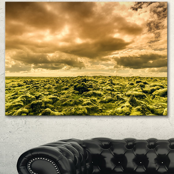 Design Art Beautiful View Of Sky And Moss Large Landscape Canvas Art