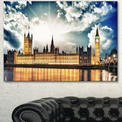 Designart Big Ben Uk And House Of Parliament ExtraLarge Canvas Art Print 3 Panels