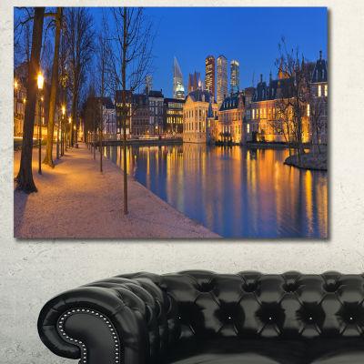 Designart Binnenhof In The Hague Panorama Oversized Seashore Canvas Art Print
