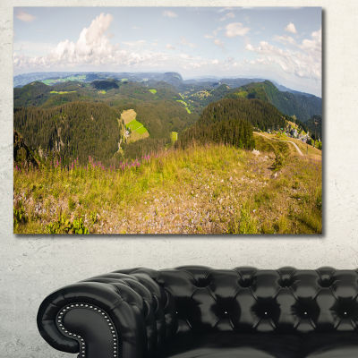 Designart Black Forest Germany Panorama LandscapeCanvas Art Print
