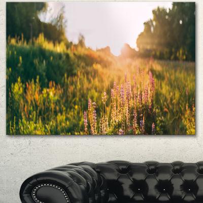 Designart Bloomy Glade Of Wild Flowers Large Landscape Canvas Art