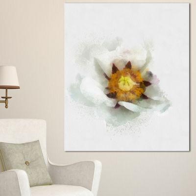 Designart Bloomy Poppy Flower Watercolor Floral Canvas Art Print