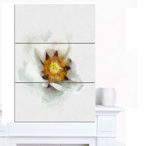 Design Art Bloomy Poppy Flower Watercolor Floral Canvas Art Print 3 Panels