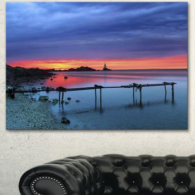 Designart Blue Sky And Waters Panorama Modern Seashore Canvas Art