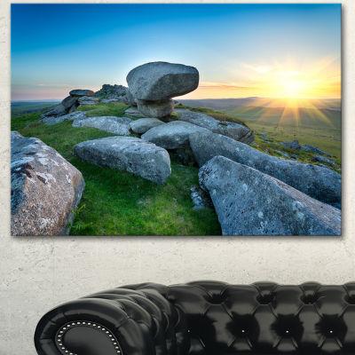 Designart Bodmin Moor Moorland In Cornwall LargeLandscape Canvas Art 3 Panels