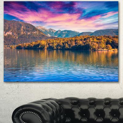 Designart Bohinj Lake In Triglav National Park Landscape Canvas Art Print