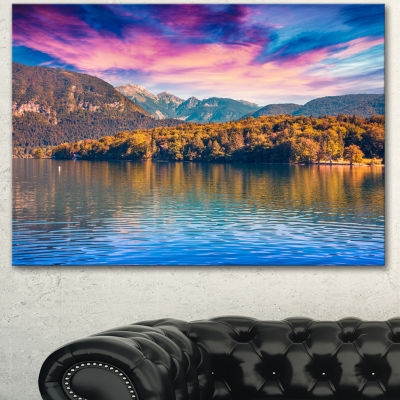 Designart Bohinj Lake In Triglav National Park Landscape Canvas Art Print 3 Panels