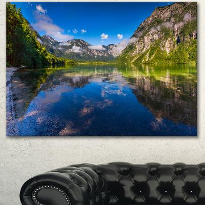 Designart Bohinj Lake In Triglav National Park Large Landscape Canvas Art Print