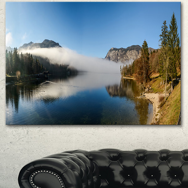 Designart Bohinj Lake Panorama Seashore Canvas ArtPrint 3 Panels