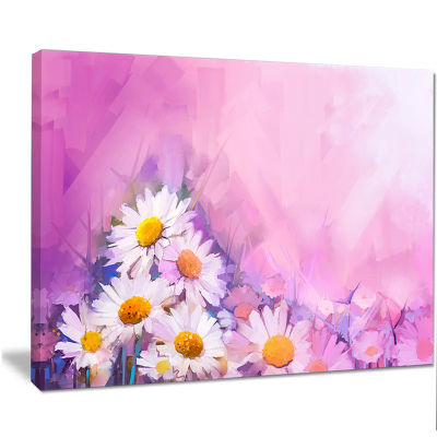 Designart Bouquet Of White Gerbera And Daisy Floral Canvas Art Print