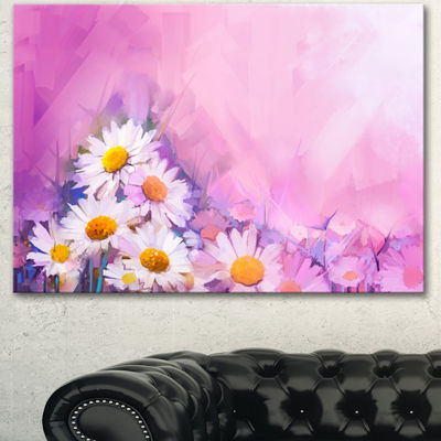 Designart Bouquet Of White Gerbera And Daisy Floral Canvas Art Print 3 Panels