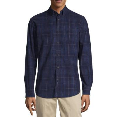 St. John's Bay Long Sleeve Plaid Button-Front Shirt-Slim