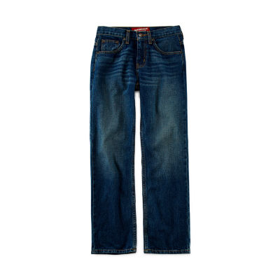 Arizona Relaxed Fit Jeans Boys 4-20, Slim & Husky