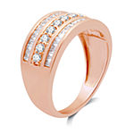 1 CT. T.W. Genuine White Diamond 10K Rose Gold Anniversary Band