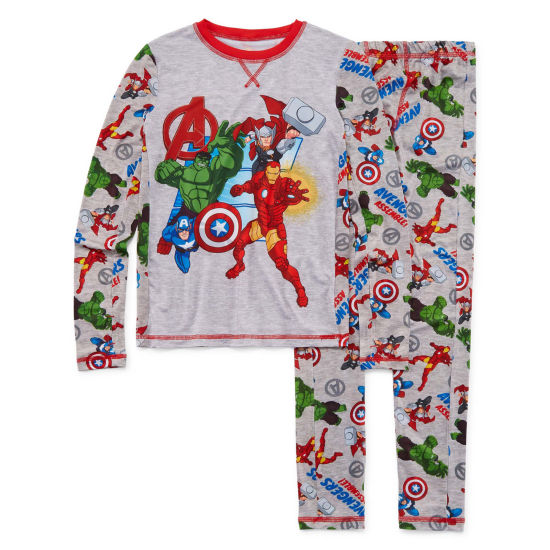 Avengers Round Neck Long Sleeve Thermal Set Boys