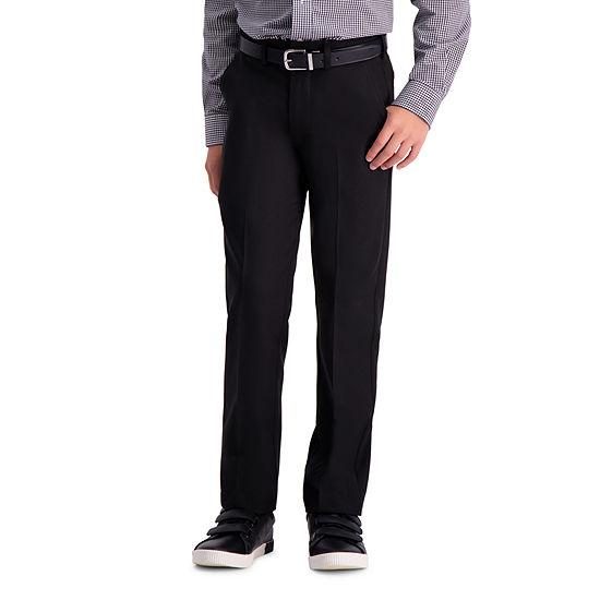 Haggar Cool 18 Pro Boys Straight Flat Front Pant Preschool Big Kid