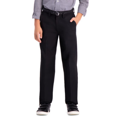 Haggar Boys Cool 18 Pro Slim Tapered Flat Front Pant - Preschool / Big Kid Slim