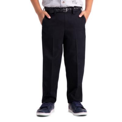 Haggar Premium No Iron Khaki Pant Boys Straight Pull-On Pants - Preschool