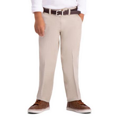 Haggar Little Boys Straight Flat Front Pant. 5 . Beige