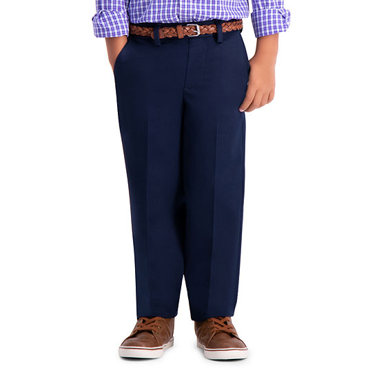 Haggar Premium No Iron Khaki Boys Straight Pull-On Pants - Preschool