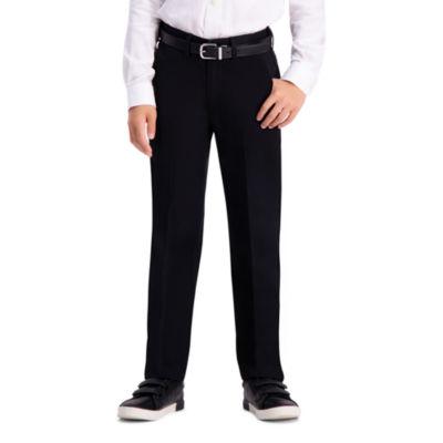 Haggar Boys Premium No Iron Khaki Straight Flat Front Pant - Preschool / Big Kid