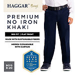 Haggar Boys Premium No Iron Khaki Straight Flat Front Pant - Preschool / Big Kid