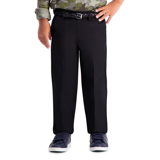 Haggar Little Boys Straight Flat Front Pant