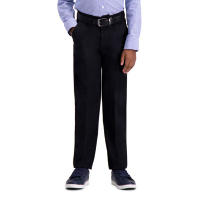 Haggar Premium No Iron Khaki Slim Pant Boys Tapered Flat Front Pant - Preschool / Big Kid Slim