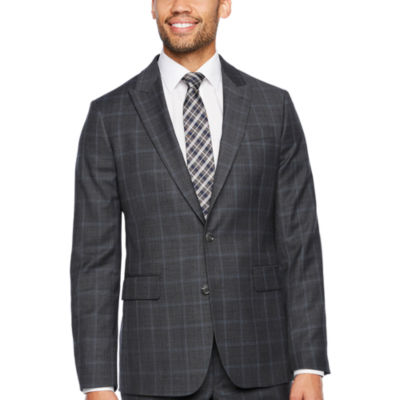 Stafford Travel Checked Slim Fit Stretch Suit Jacket