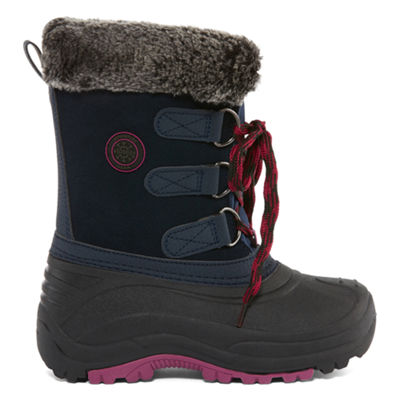 Totes Little Kid/Big Kid Girls Jessica Water Resistant Winter Boots Elastic