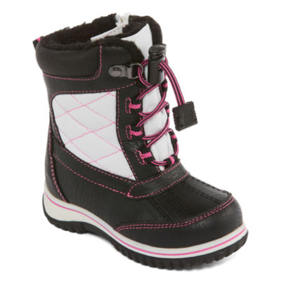 Totes Girls Kim Water Resistant Strap Winter Boots